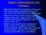 organic associations and farmers42