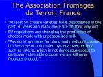 the association fromages de terroir france