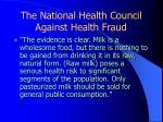 the national health council against health fraud