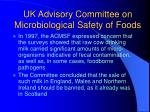 uk advisory committee on microbiological safety of foods