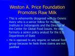 weston a price foundation promotes raw milk20