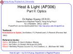 heat light ap306 part ii optics