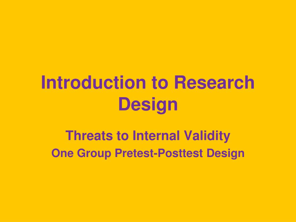 introduction to research design l.