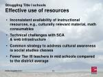 struggling title i schools effective use of resources