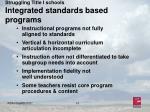 struggling title i schools integrated standards based programs