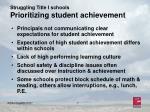 struggling title i schools prioritizing student achievement