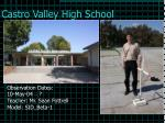 castro valley high school