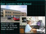 san leandro high school