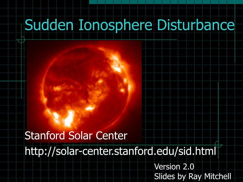 sudden ionosphere disturbance l.