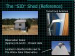 the sid shed reference