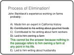 process of elimination42