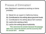 process of elimination43