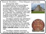 social studies the mayan calendar