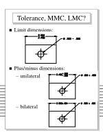 tolerance mmc lmc