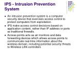 ips intrusion prevention system