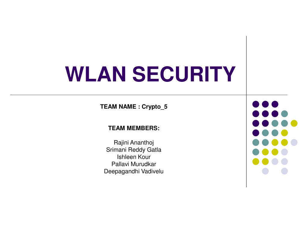 wlan security l.