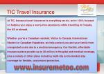 tic travel insurance