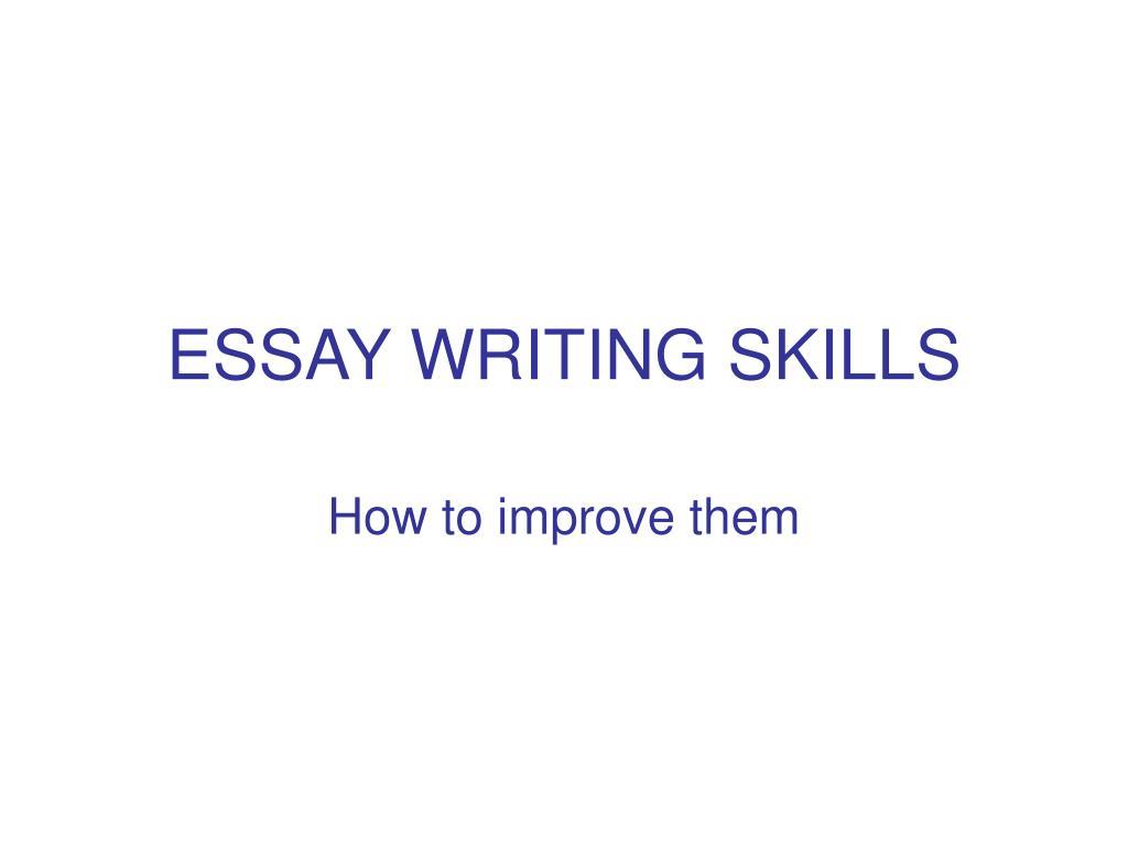 essay writing skills l.