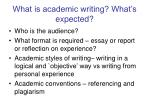 what is academic writing what s expected