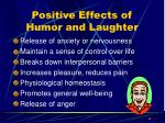 positive effects of humor and laughter