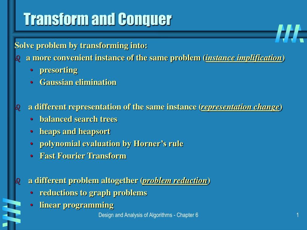 transform and conquer l.