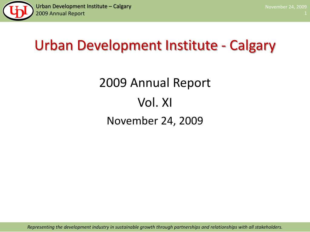 urban development institute calgary l.