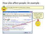 how silos affect people an example