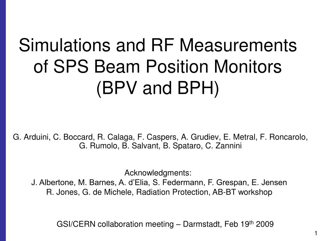 simulations and rf measurements of sps beam position monitors bpv and bph l.