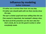 influence by modeling author unknown