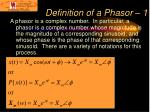 definition of a phasor 1