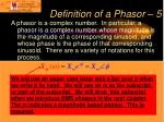 definition of a phasor 5
