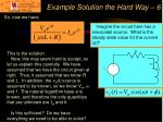 example solution the hard way 6
