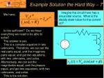 example solution the hard way 7