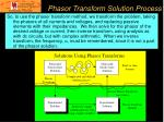 phasor transform solution process