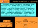 phasor transforms of capacitors
