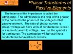 phasor transforms of passive elements18