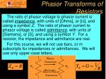 phasor transforms of resistors21