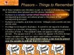 phasors things to remember