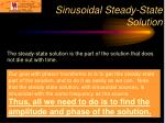 sinusoidal steady state solution