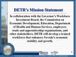 detr s mission statement