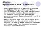 alkynes hydrocarbons with triple bonds