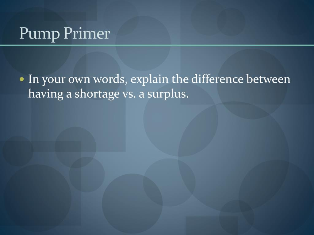 pump primer l.