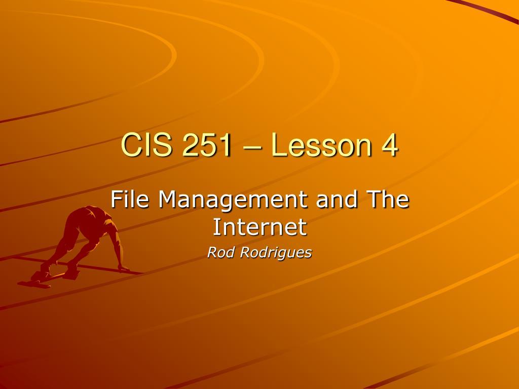 cis 251 lesson 4 l.