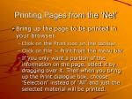 printing pages from the net