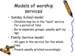 models of worship services