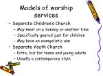 models of worship services6