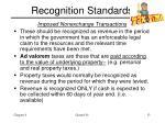 recognition standards