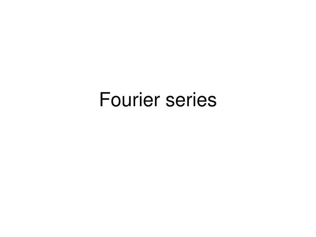 fourier series l.