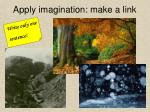 apply imagination make a link