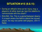situation 15 9 8 1i